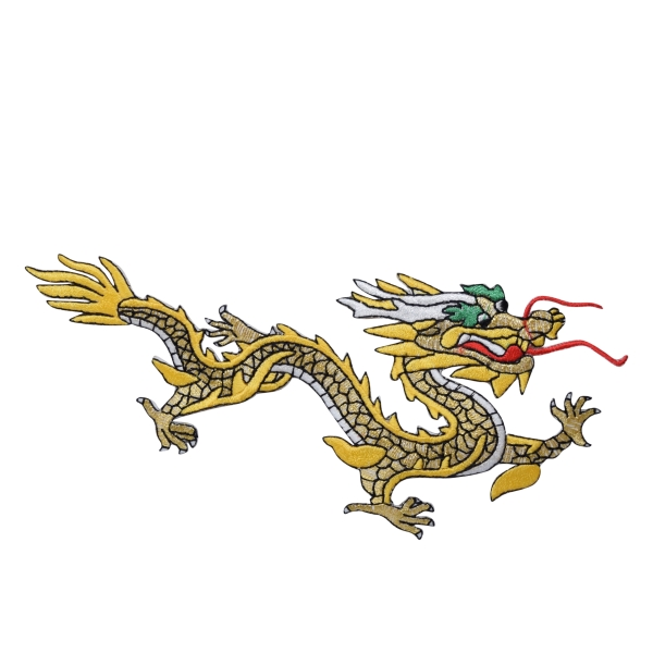 Large Yellow/Gold Dragon Right