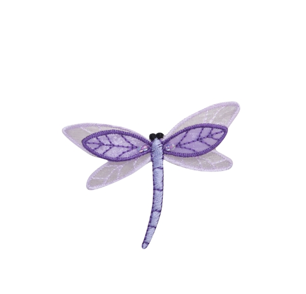 Large Sheer Layered Purple Dragonfly