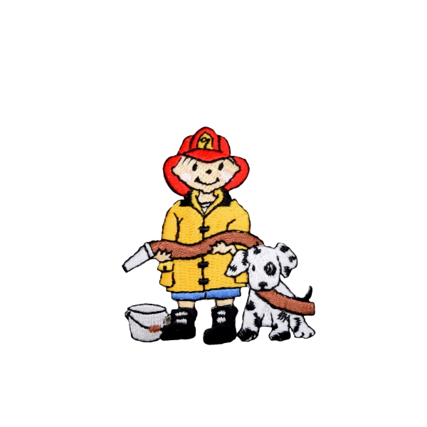 Fire Boy with Dalmatian Dog