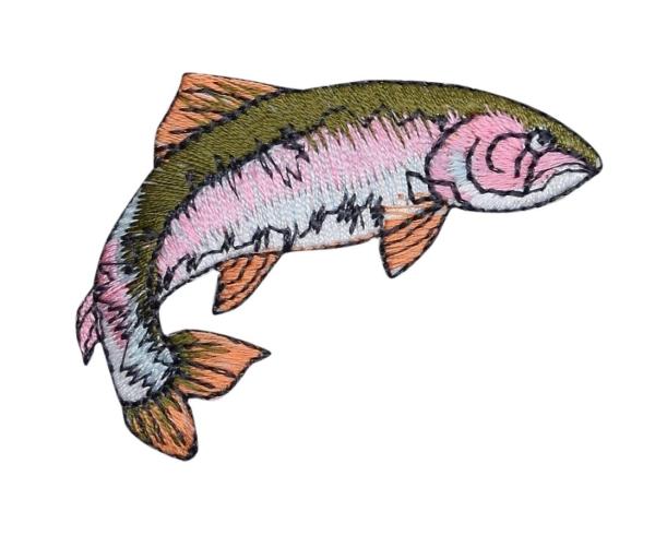 FISH-RAINBOW TROUT IRON ON APPLIQUE 696816-AR