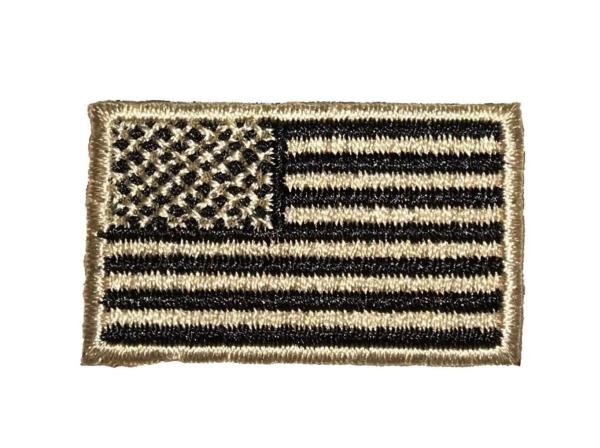 Small US Flag - Black/Tan