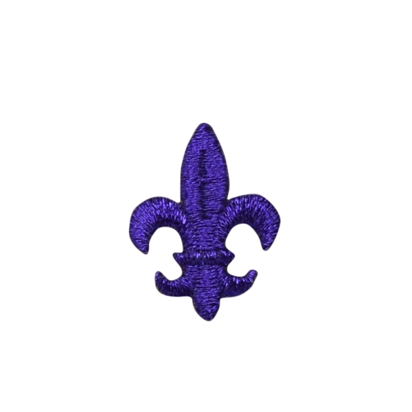 Medium Purple Fleur De Lis