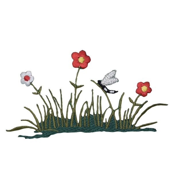Flowers/Grass with Dragonfly