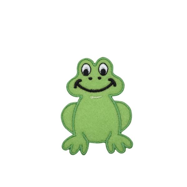 Childrens Smiling Green Felt Frog