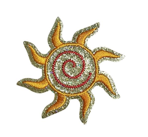Glitter Sparkle Spiral Sun