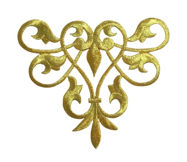 Gold Line Flow Fleur De Lis
