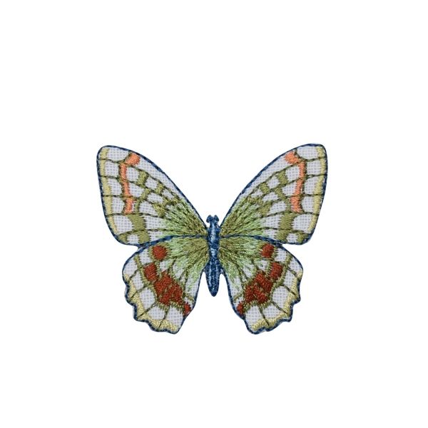 White/Sage Green Butterfly