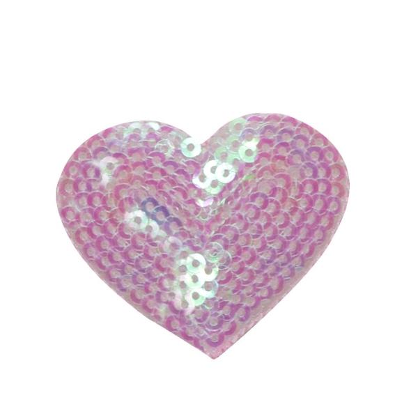 Sequin Heart - Pink