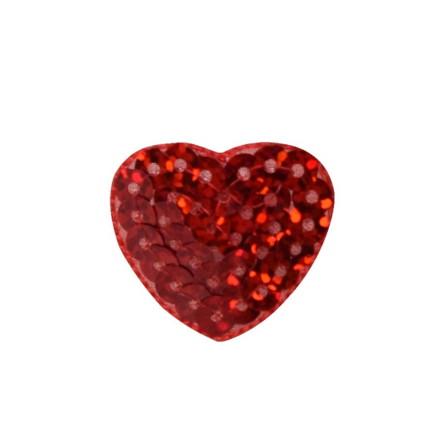 Valentine Red Sequin Small Heart