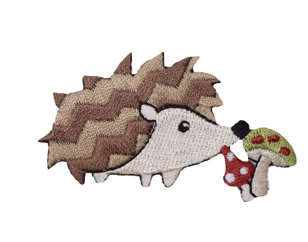 Woodland Hedgehog with Mushrooms