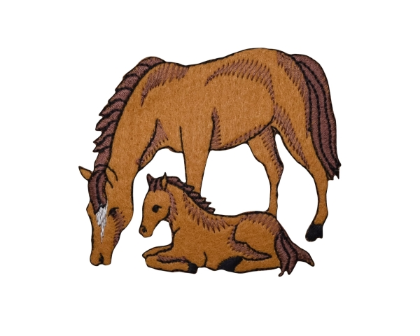 Felt Horse Mare and Colt