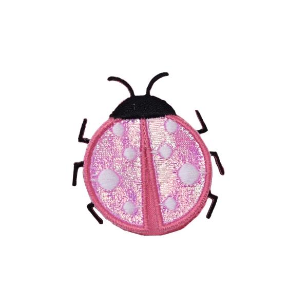 Large Pink Satin Layered Ladybug
