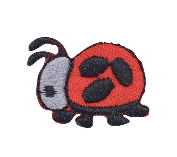 Small Red and Gray Ladybug