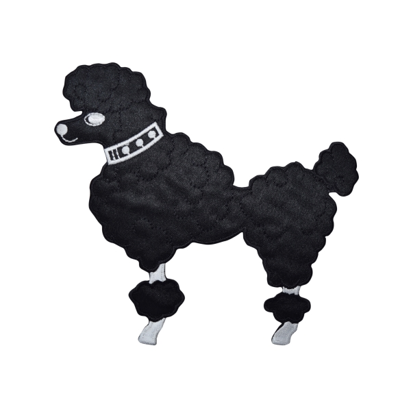 Large Black Poodle - Facing Left