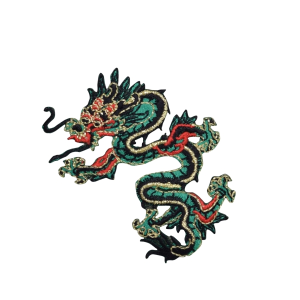 Small Green/Red Dragon Left