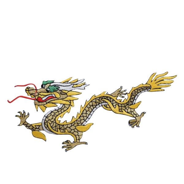 Large Yellow/Gold Dragon Left
