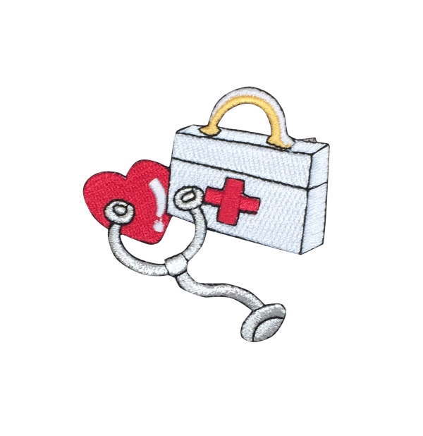 Medical First Aid Kit - Stethoscope Heart