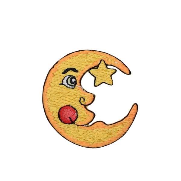 Yellow Moon and Star with Rosy Cheek