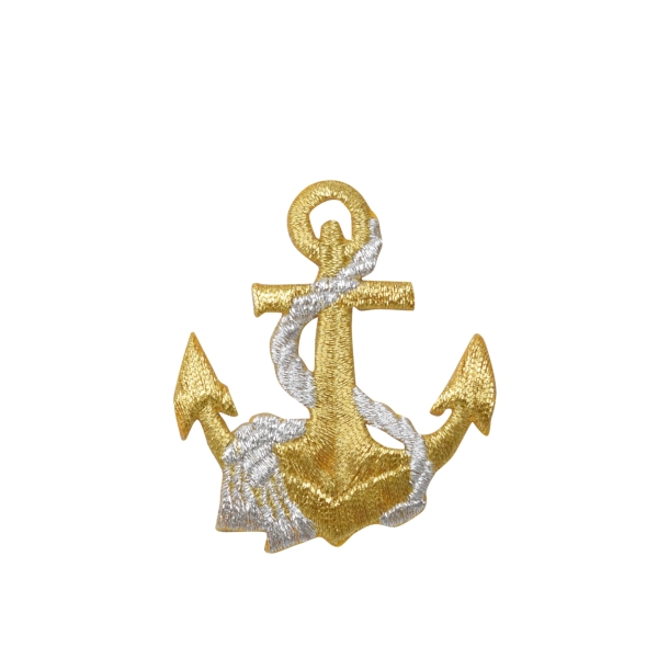 Nautical Gold Anchor with Silver Rope