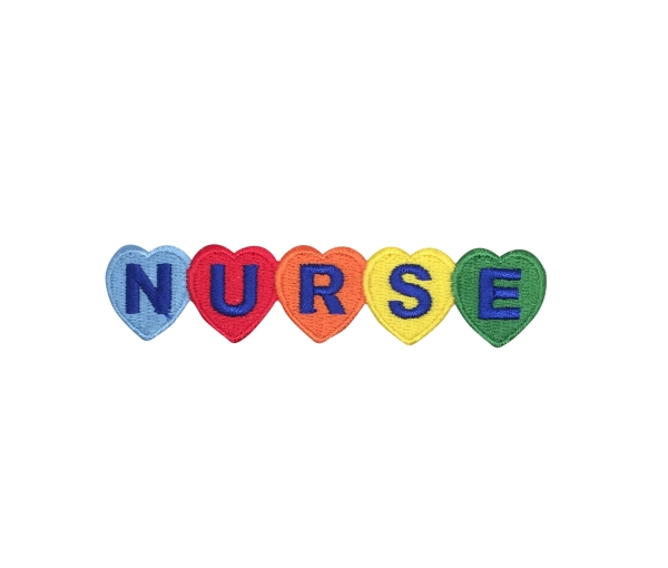 Nurse with Colorful Hearts