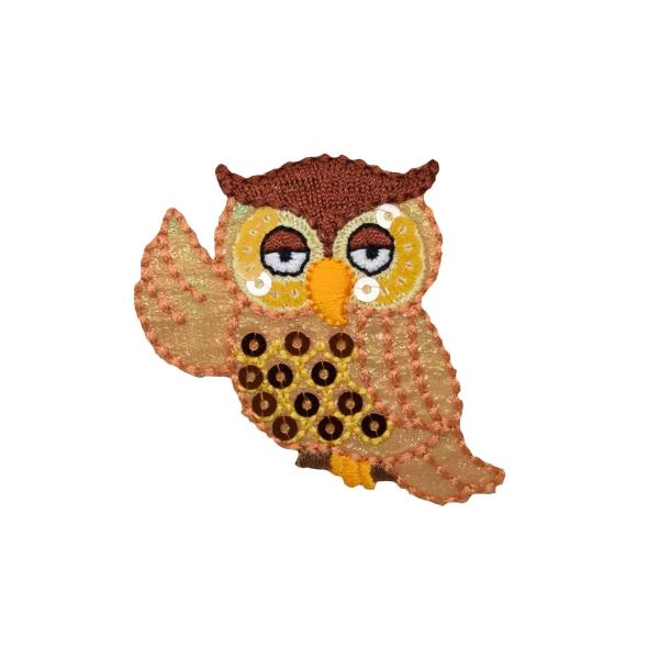 Whimsy Sequin Golden Owl