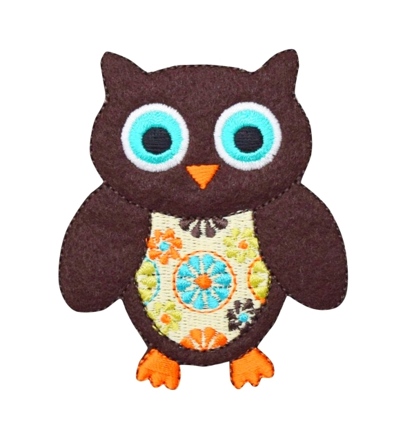 Large Brown Retro Owl
