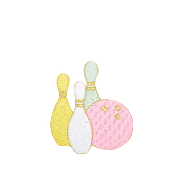 Pastel Bowling Ball with Pins