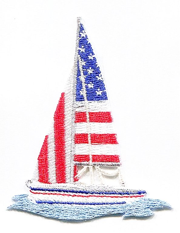 Patriotic Sailboat
