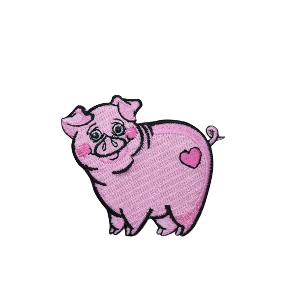 Pink Piglet with Heart