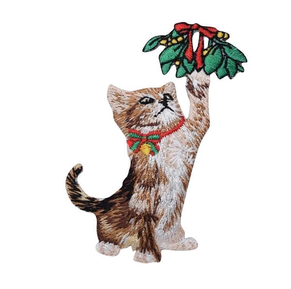 Playful Kitten - Mistletoe