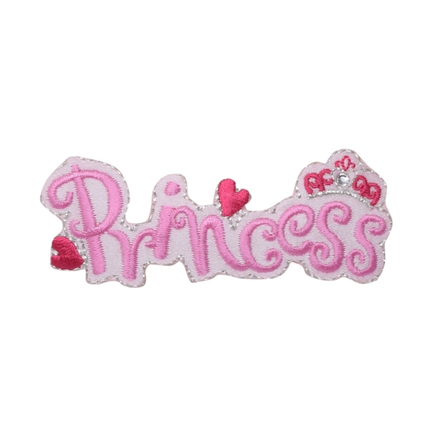 Pink Princess with Crown Hearts