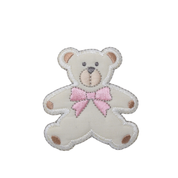 Puffy Teddy Bear - Pink Bow