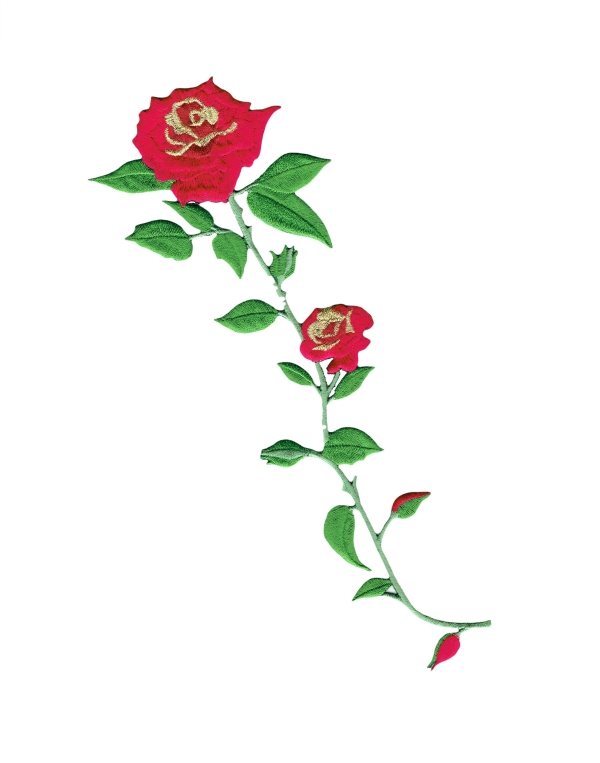 Red Rose With Gold