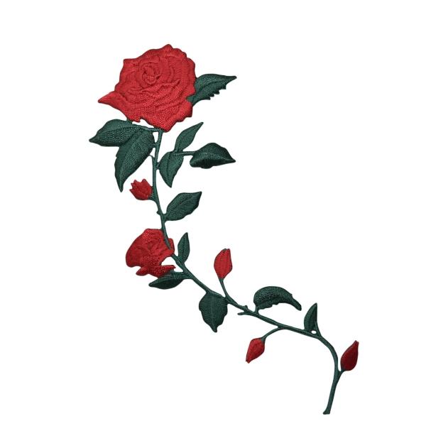 Red Roses Curved Stem Facing Left