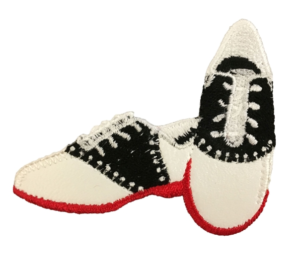 Saddle Shoes - Red Sole