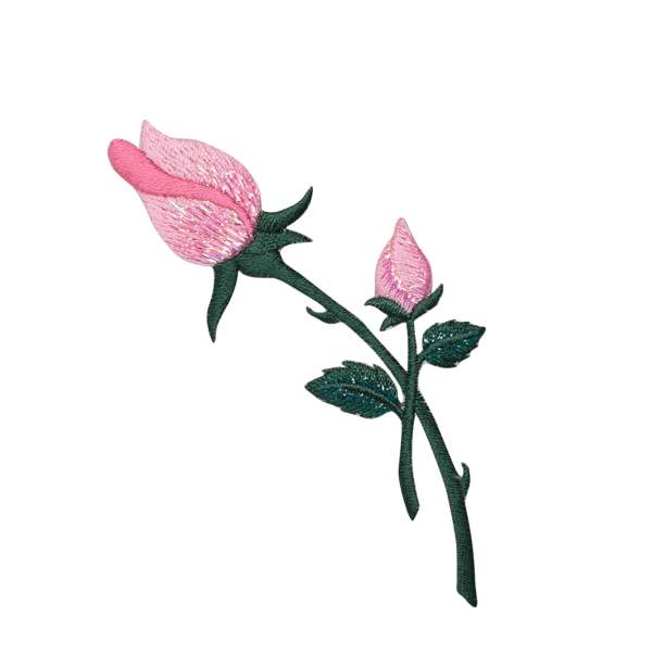 Pink Rose with closed Petals and Stem