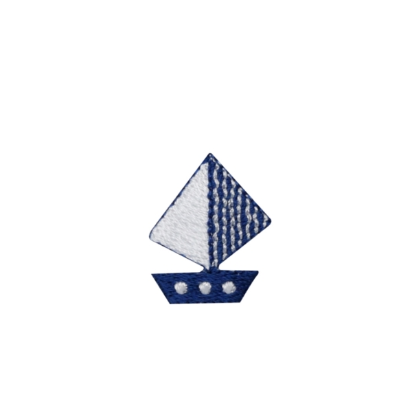 Small Blue and White Sailboat