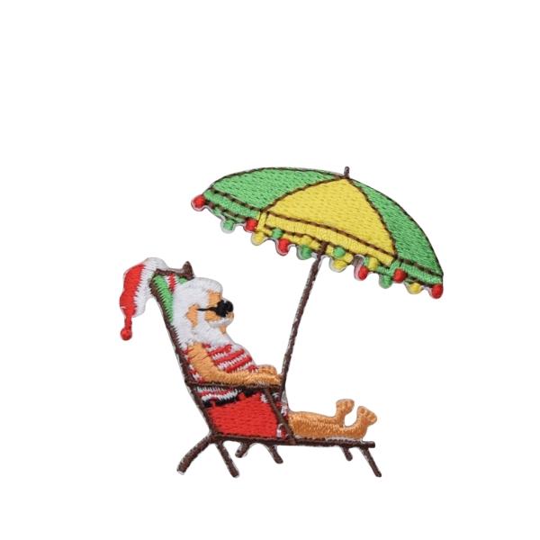 Santa Under Beach Umbrella
