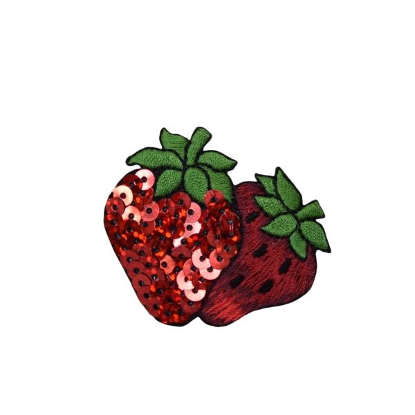 Sequin Double Strawberries