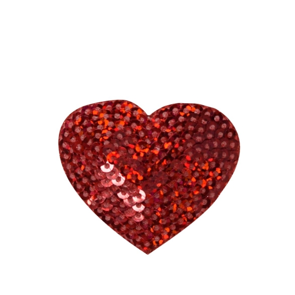 Sequin Heart - Red
