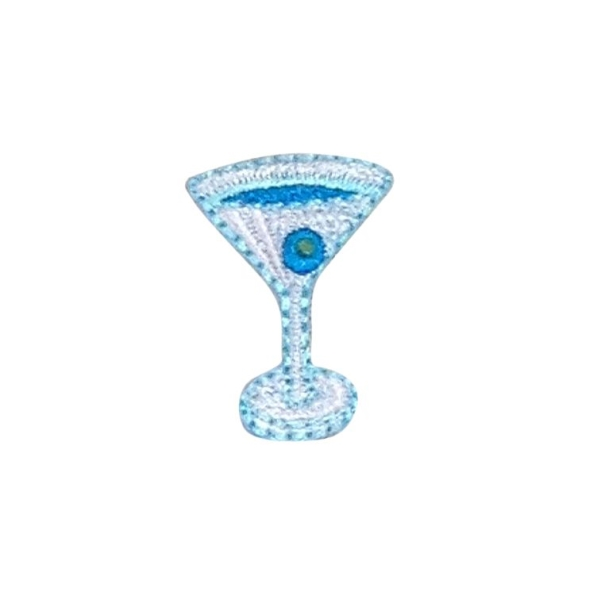 Small Blue Martini Glass
