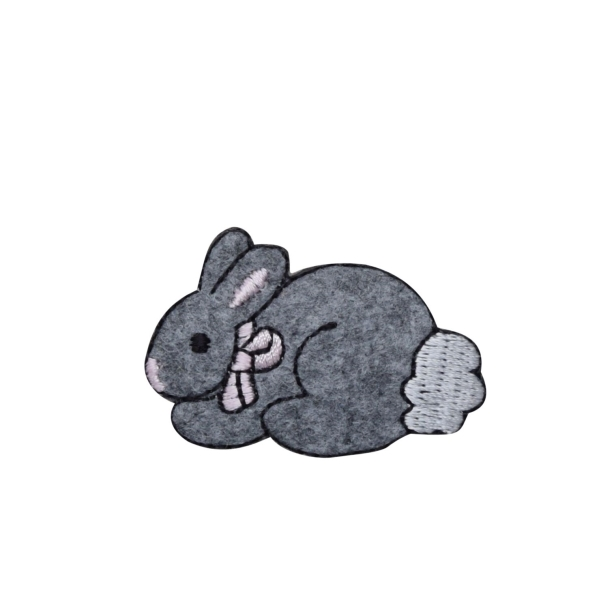 Small Fuzzy Gray Bunny Rabbit