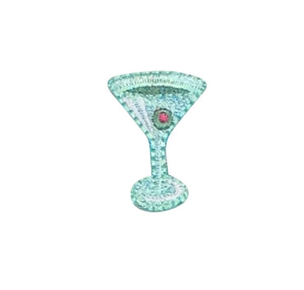 Small Green Martini Glass