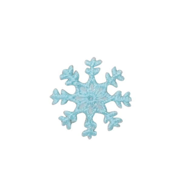 Small Cyan Blue Snowflake