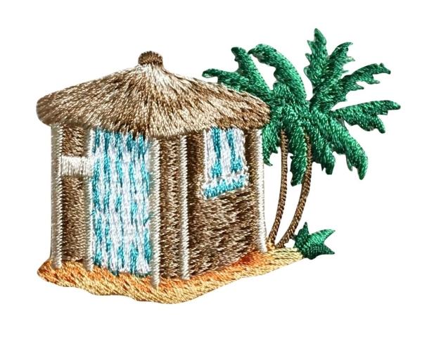 Beach Hut with Palm Trees