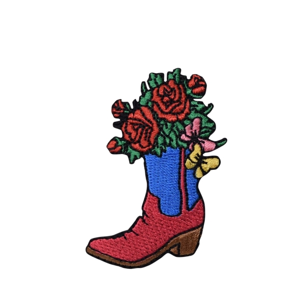 Western Boot with Flower