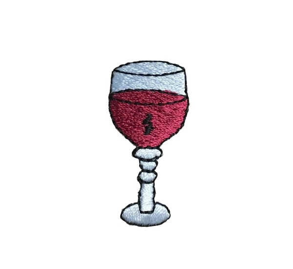 WINE GLASS IRON ON APPLIQUE632898-A