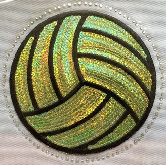 Water Polo Ball Sequin and Rhinestone