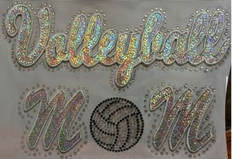 Volleyball Mom Sequin and Rhinestone