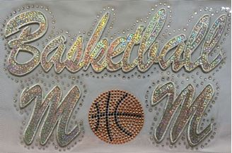 Basketball Mom Sequin and Rhinestone